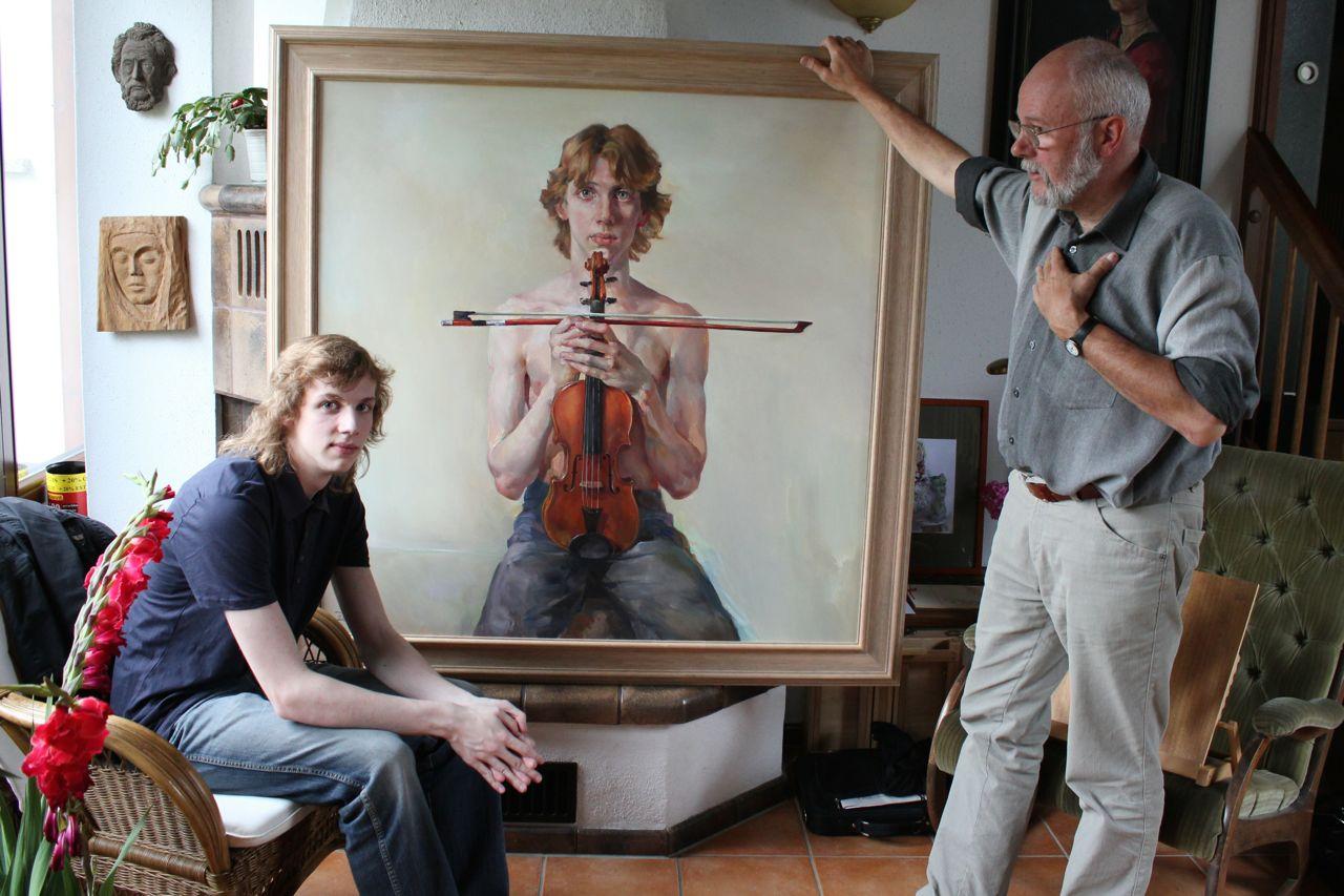 Albrecht Menzel und Maler Christoph Wetzel @Privatarchiv