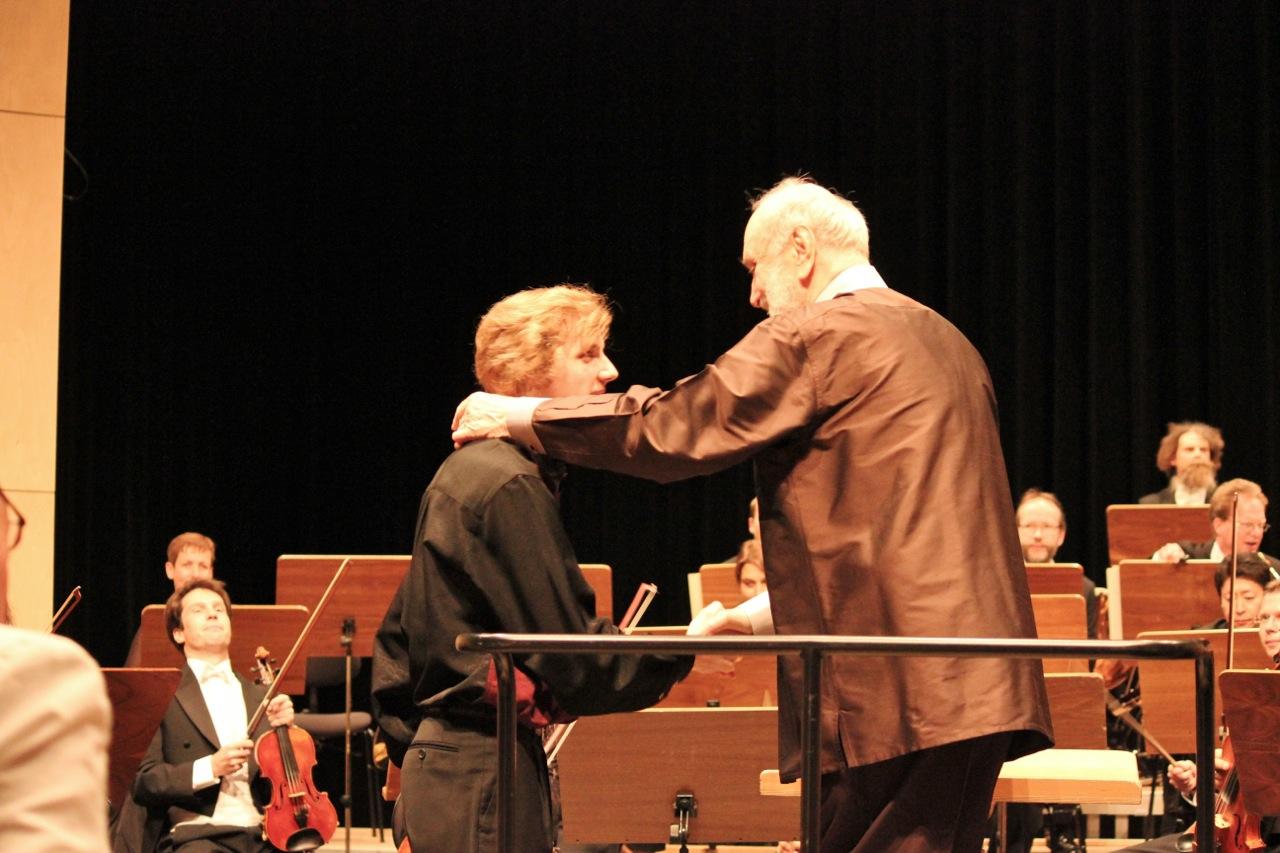 Albrecht Menzel und Kurt Masur, Sinfonie Orchester Leipzig, 2011 @Privatarchiv