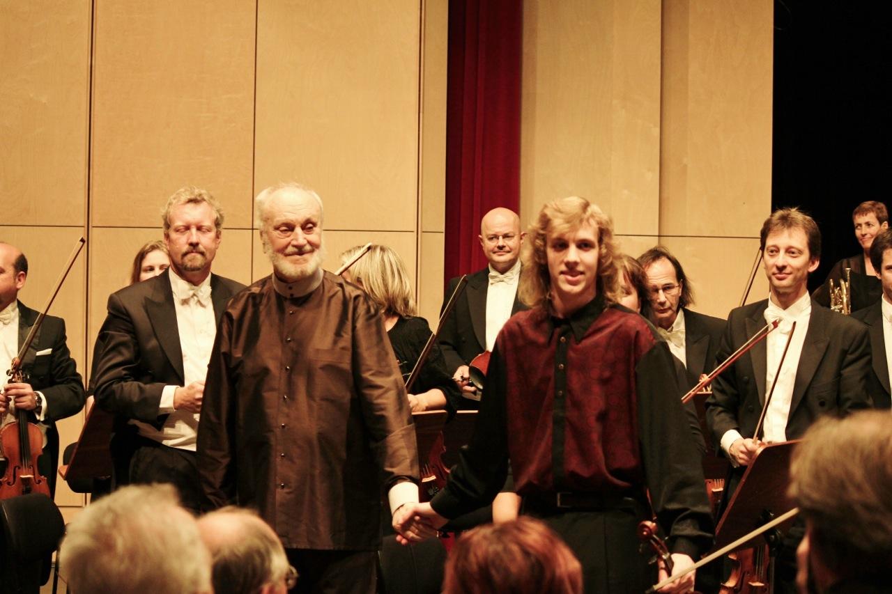 Maestro Kurt Masur und Albrecht Menzel, Sinfonie Orchester Leipzig, 2011 @Privatarchiv