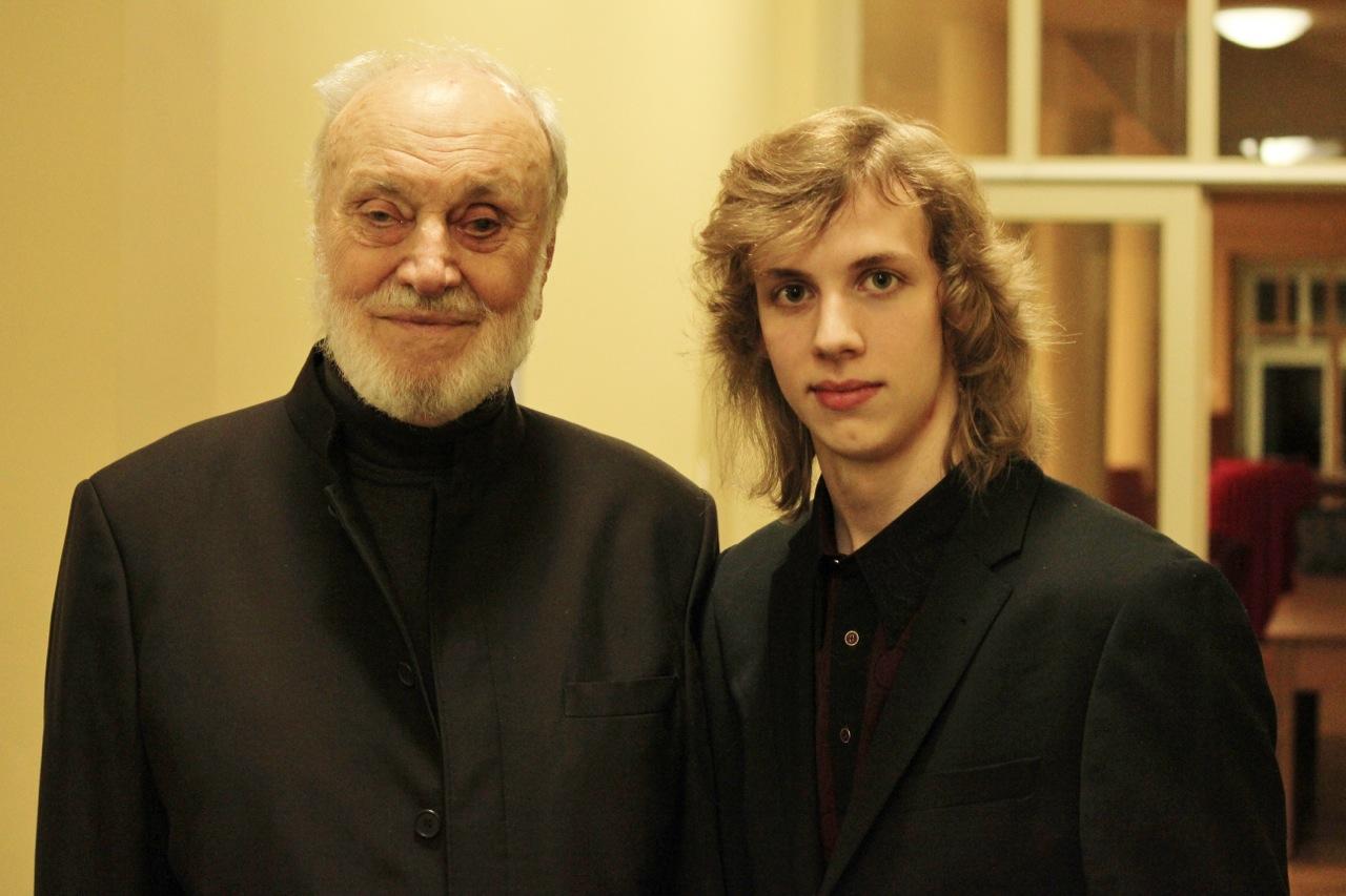 Maestro Kurt Masur und Albrecht Menzel nach dem Konzert 2011 @Privatarchiv